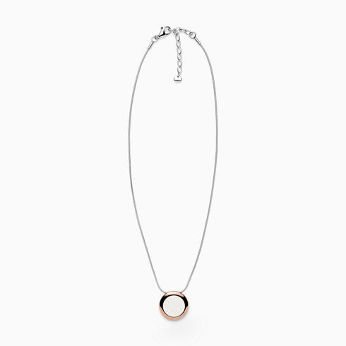 Sea Glass Two Tone Stainless Steel Necklace