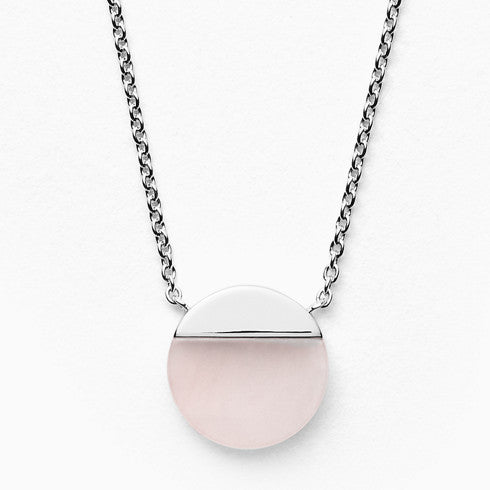 Ellen Sterling Silver Rose Quartz Necklace
