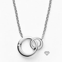 Elin Sterling Silver Genuine Diamond Necklace