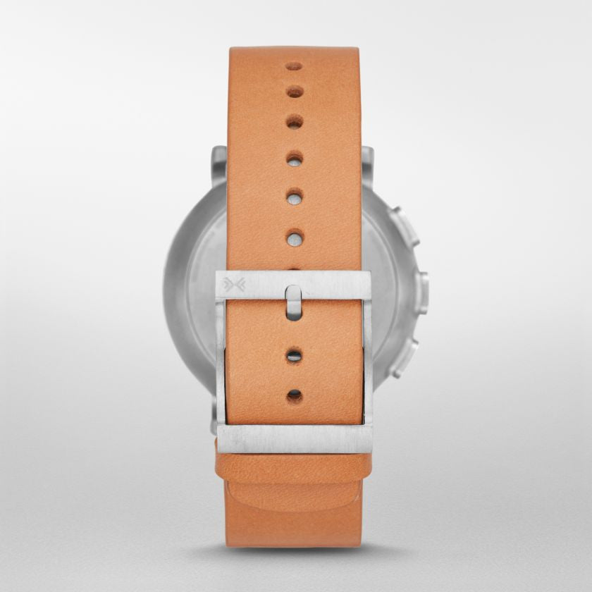 Hagen Connected Leather Hybrid Smartwatch
