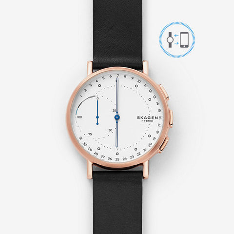 Signatur Connected Leather Hybrid Smartwatch