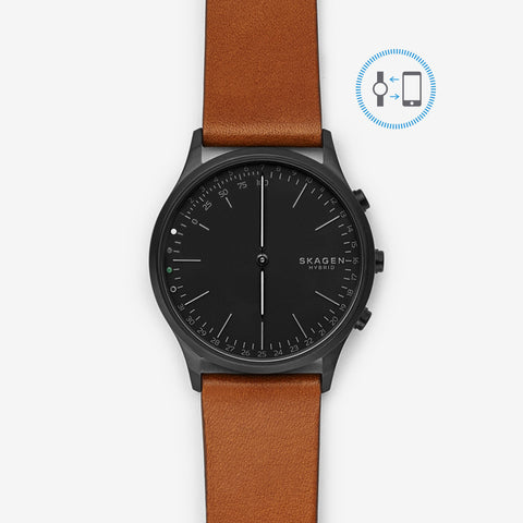 Hybrid Smartwatch - Jorn Cognac Leather