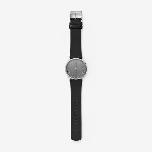 Jorn Connected Titanium and Leather Hybrid Smartwatch