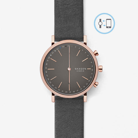 Hald Connected Leather Hybrid Smartwatch