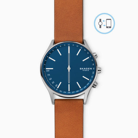 Hybrid Smartwatch Holst Titanium and Brown Leather