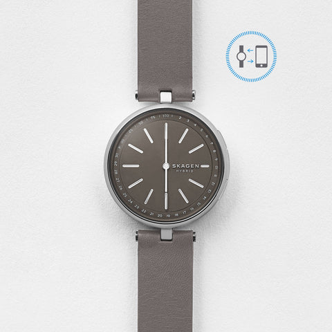 Hybrid Smartwatch - Signatur T-Bar Grey Leather