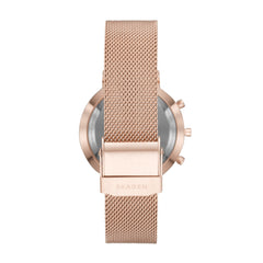 Hybrid Smartwatch   Hald Rose Gold Tone Steel Mesh