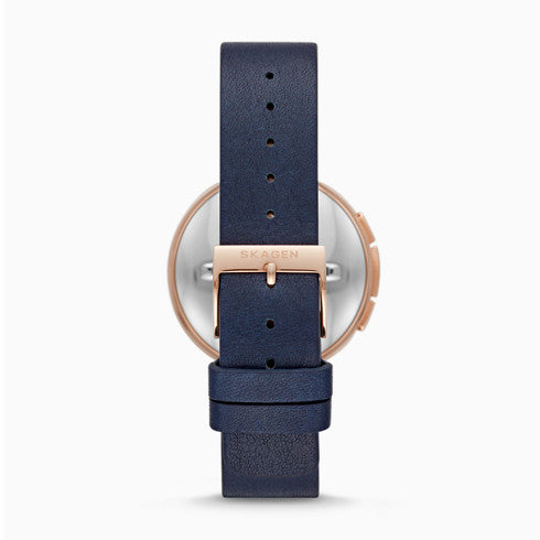 Hybrid Smartwatch Signatur TBar Blue Leather
