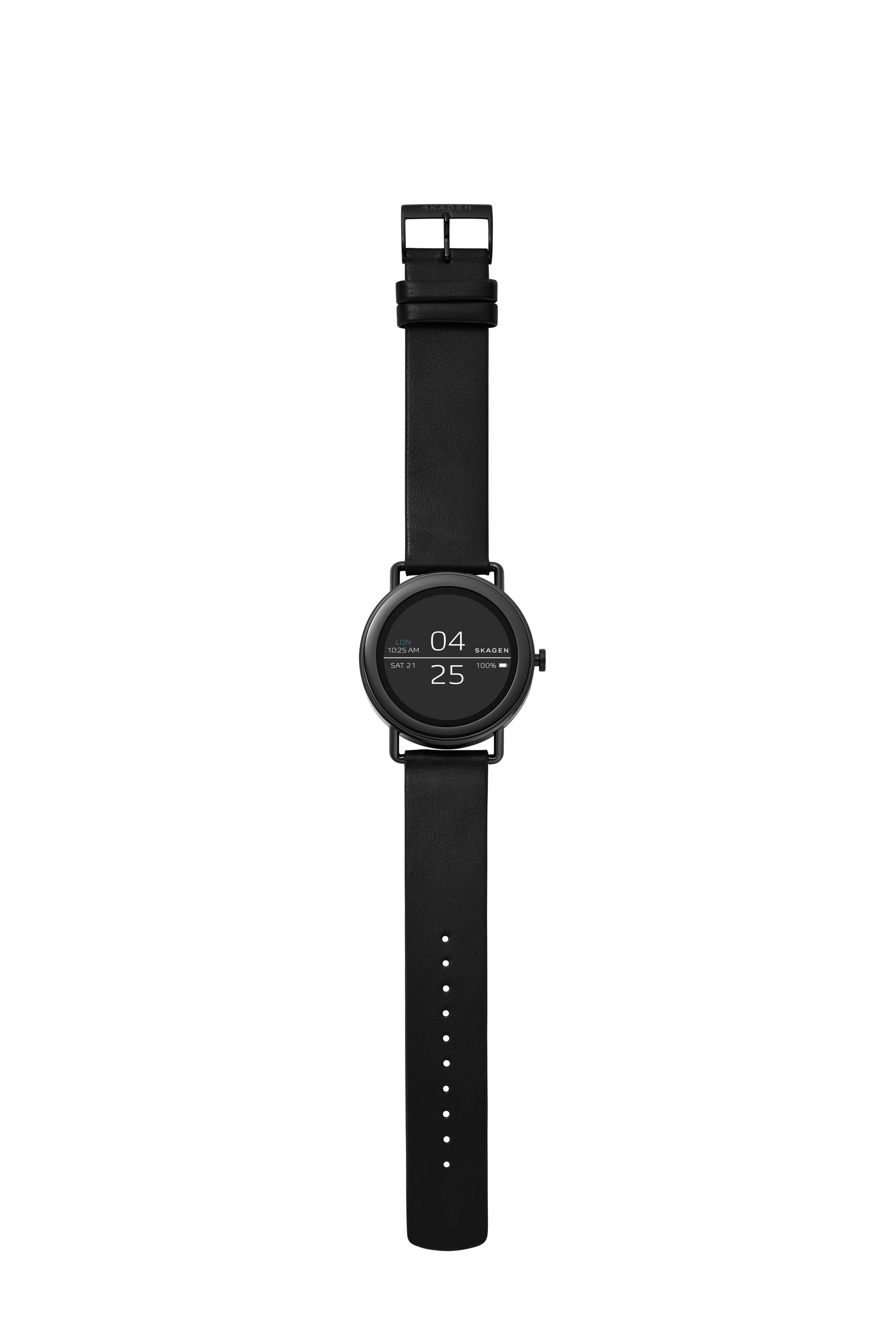 Smartwatch   Falster Black Leather