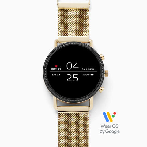 Smartwatch Falster 2 Gold Tone Mesh