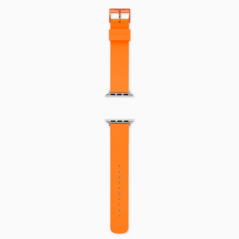 Neon Orange Silicone Bands for Apple Watches® 38mm and 40mm