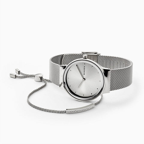 Freja Steel Mesh Watch Merete Bracelet Box Set