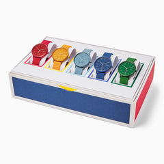 Aaren Kulor Three Hand Multi Colored Silicone 36mm Collectors Box Set