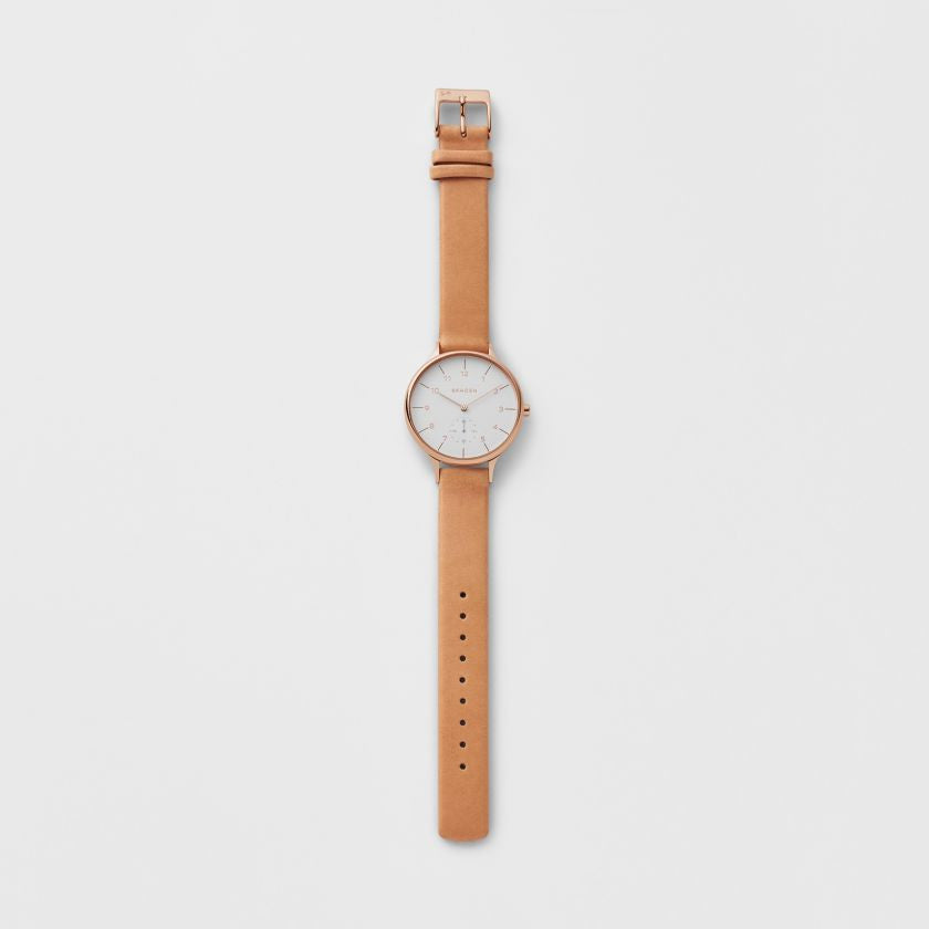 Anita Sub-Eye Brown Leather Watch