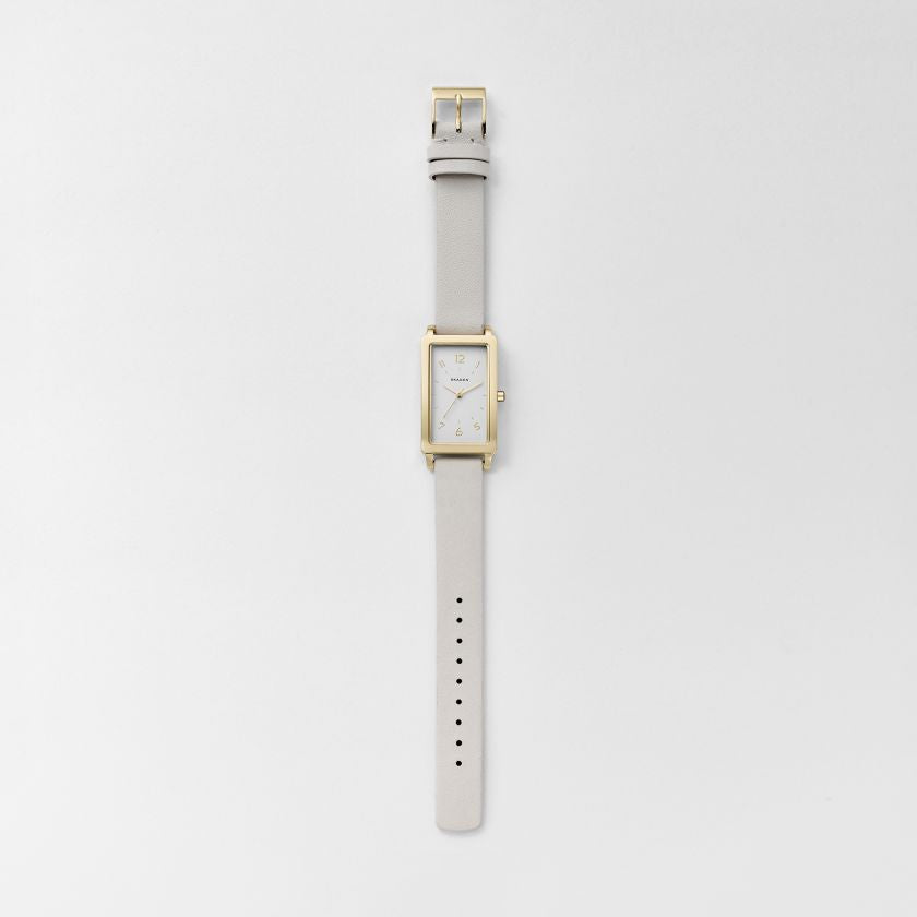 Hagen Rectangular Leather Watch
