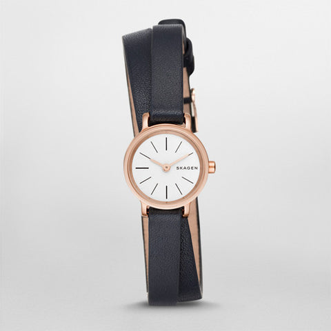 Hagen Leather Double Wrap Watch