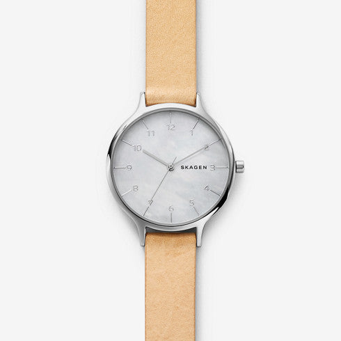 Anita Mother-of-Pearl Leather Watch