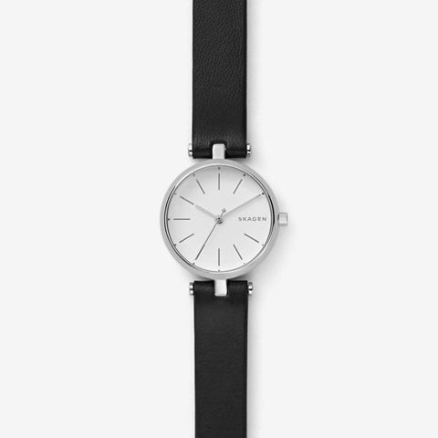Signatur Leather T-Bar Watch