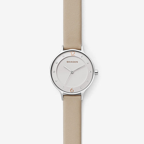 Anita Beige Leather Watch