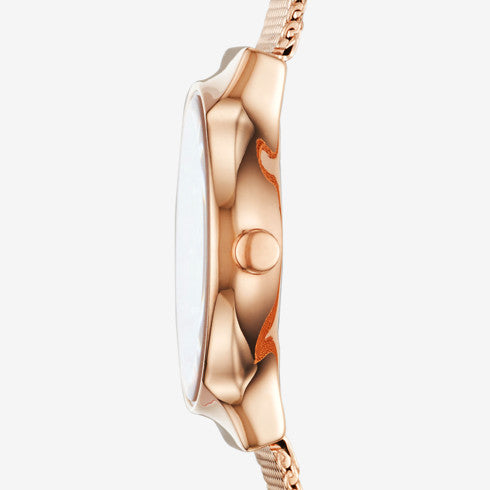 Freja Rose Gold-Tone Steel-Mesh Watch