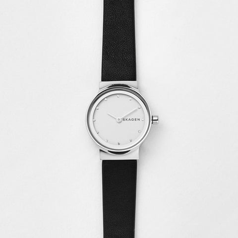 Freja Black Leather Watch