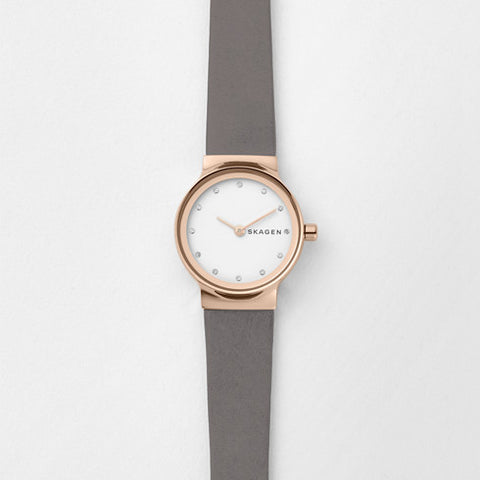 Freja Grey Leather Watch