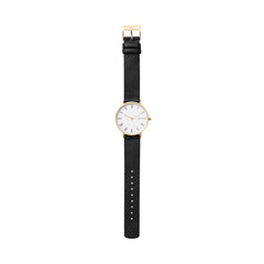 Hald Slim Slim Black Leather Watch