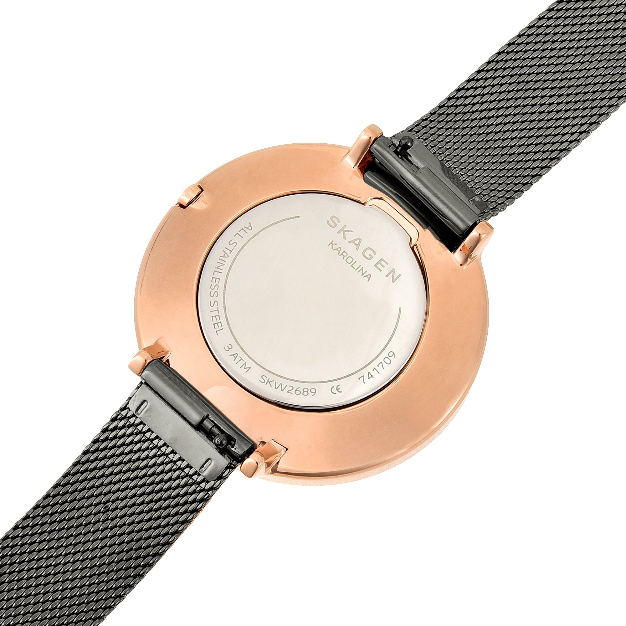 Karolina Dark Gray Steel Mesh Watch