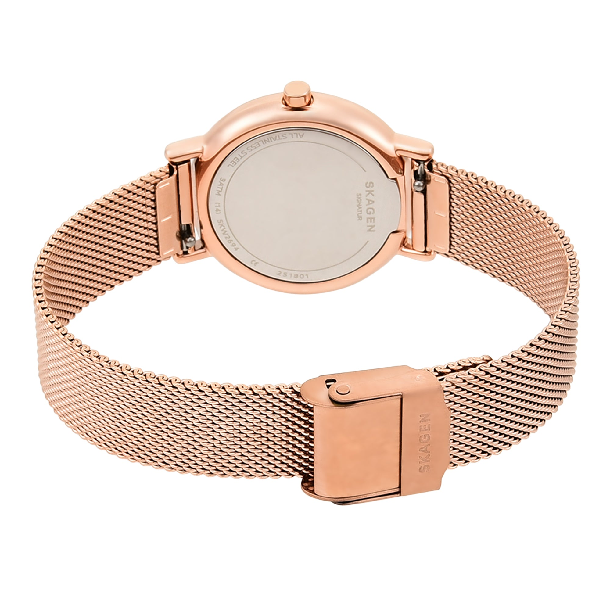 Signatur Slim Rose Gold Tone Steel Mesh Watch