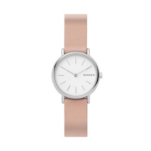 Signatur Slim Blush Leather Watch