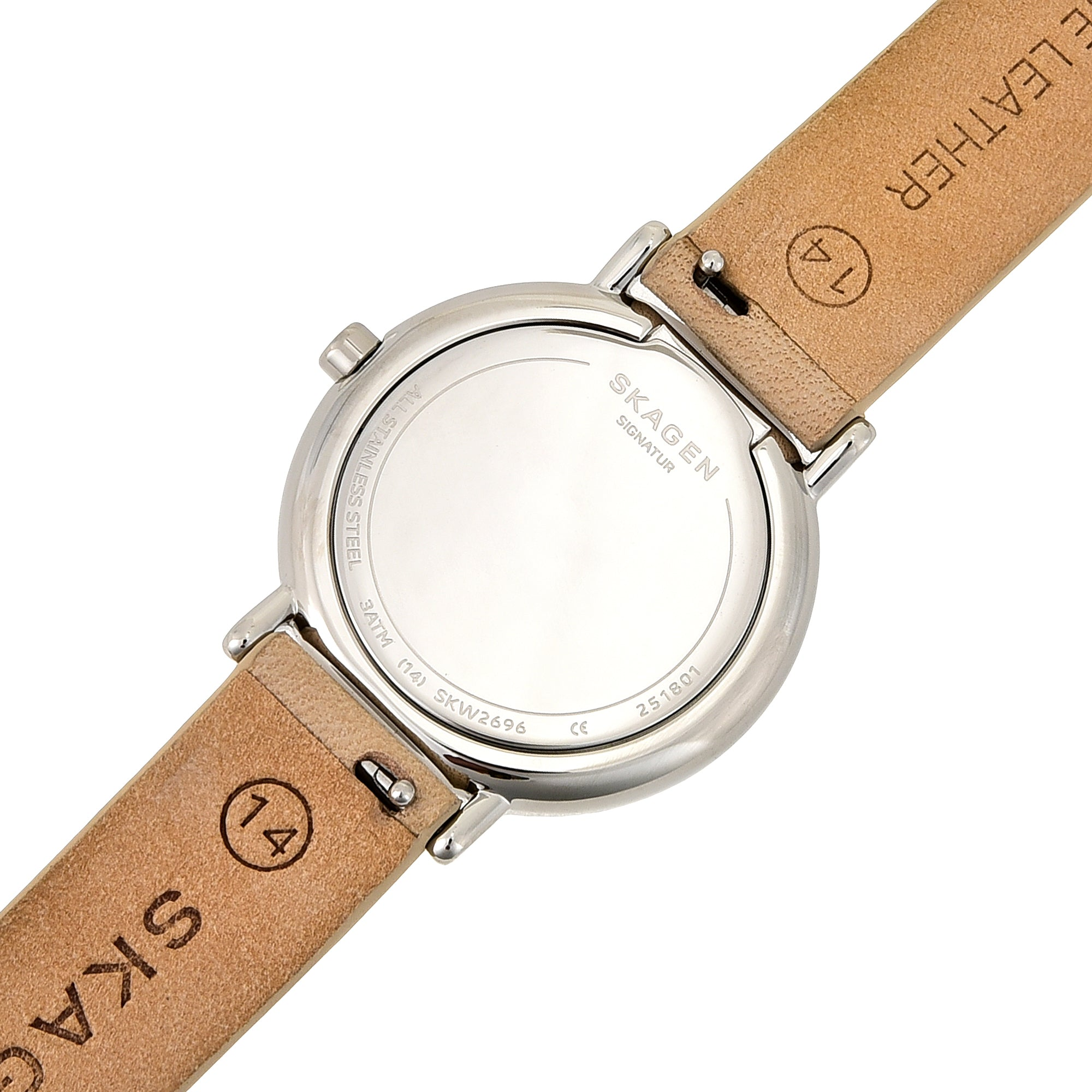 Signatur Slim Nude Nubuck Leather Watch