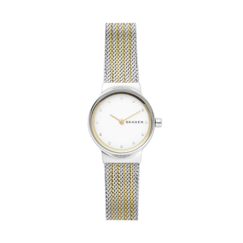 Freja Two Tone Steel Mesh Watch