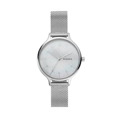 Anita Steel Mesh Mother of Pearl Watch
