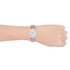 Signatur T Bar Gray Leather Watch