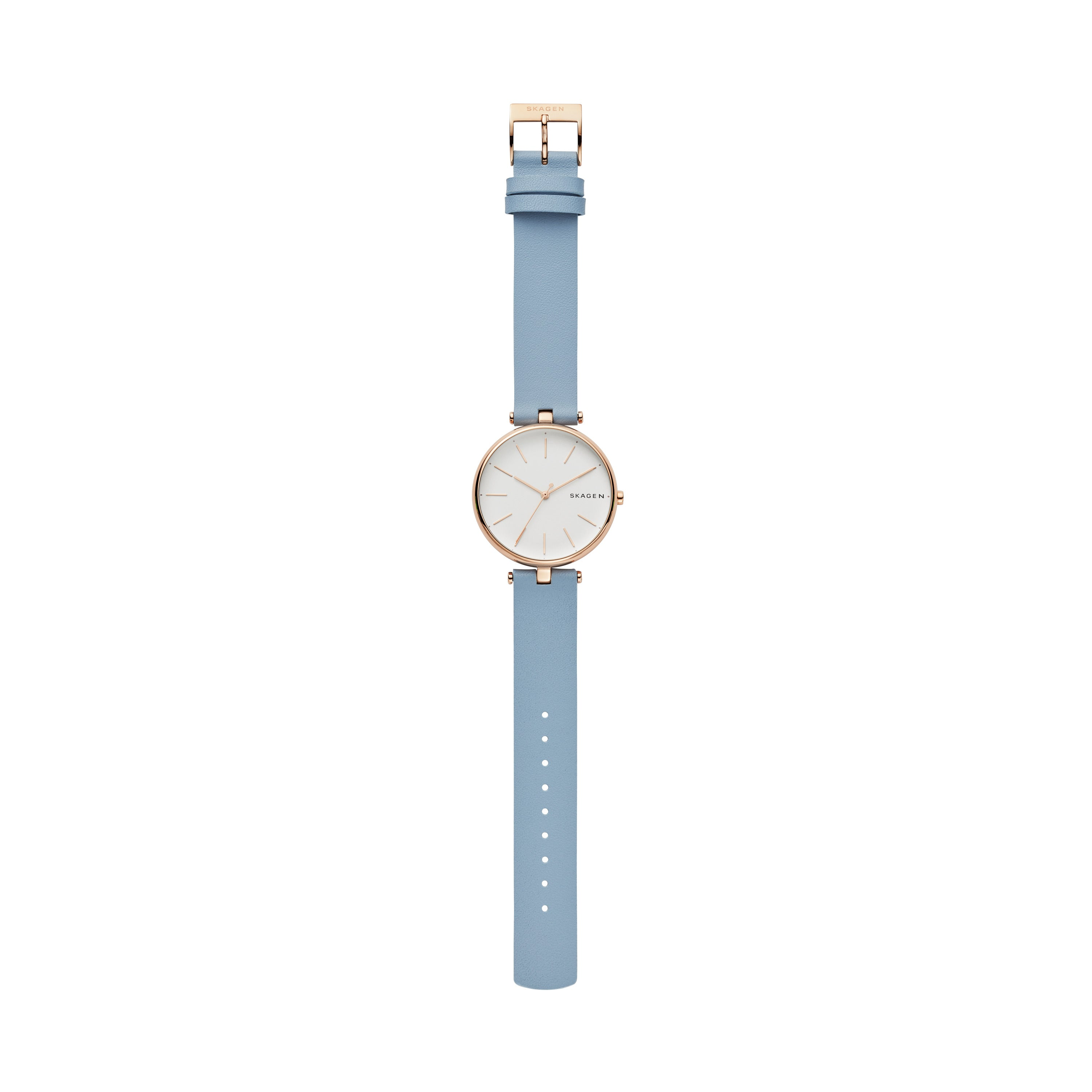Signatur T Bar Blue Leather Watch