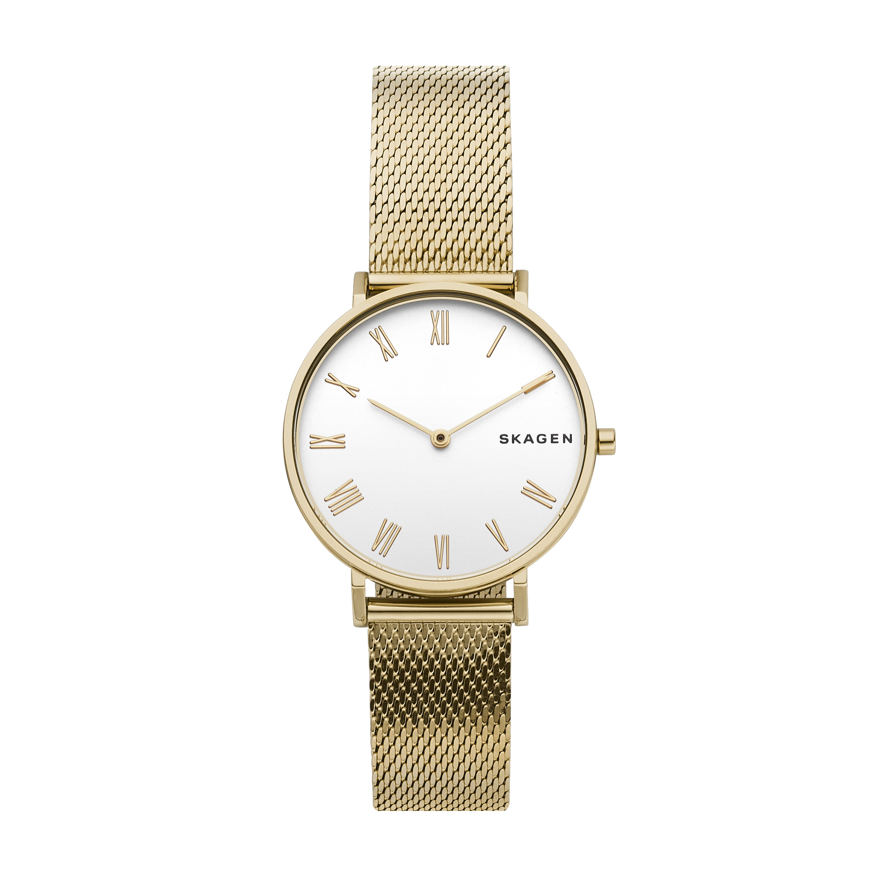 Hald Gold Tone Silk Mesh Watch