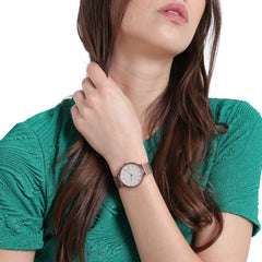 Hald Rose Tone Silk Mesh Watch
