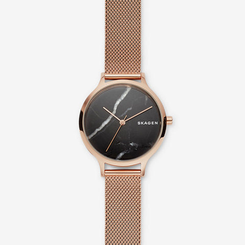 Anita Rose Tone Steel Mesh Stone Watch