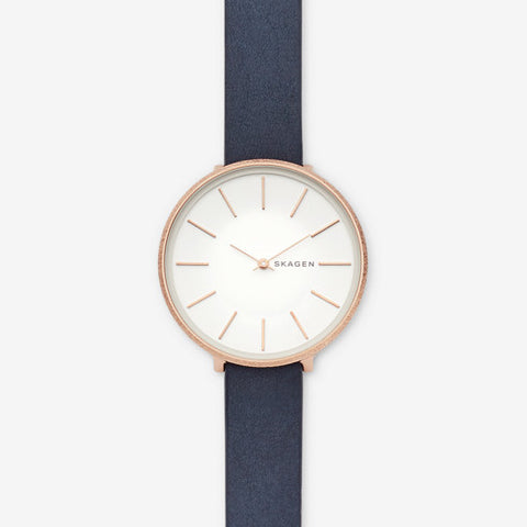 Karolina Blue Leather Watch