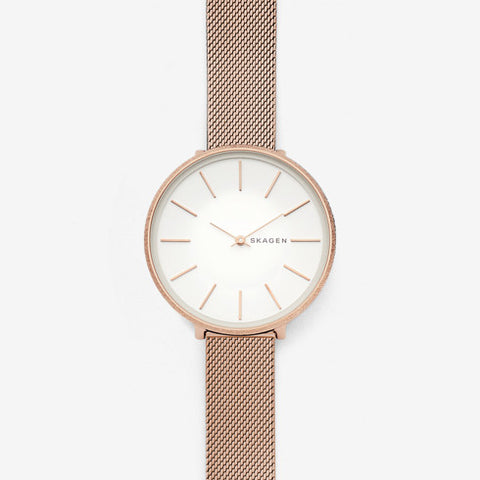 Karolina Rose Tone Silk Mesh Watch