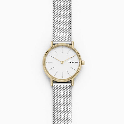 Signatur Slim Two Tone Silk Mesh Watch