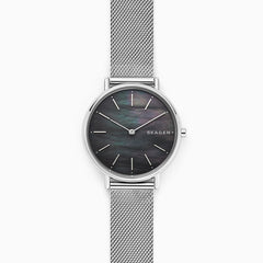Signatur Slim Steel Mesh MOP Watch