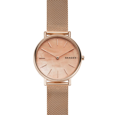 Signatur Slim Rose Tone Steel Mesh Watch