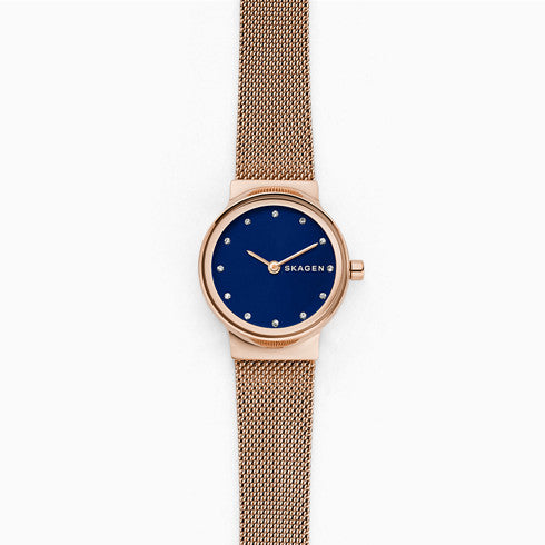 Freja Rose Tone Steel Mesh Watch