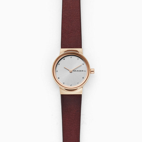 Freja Red Leather Watch