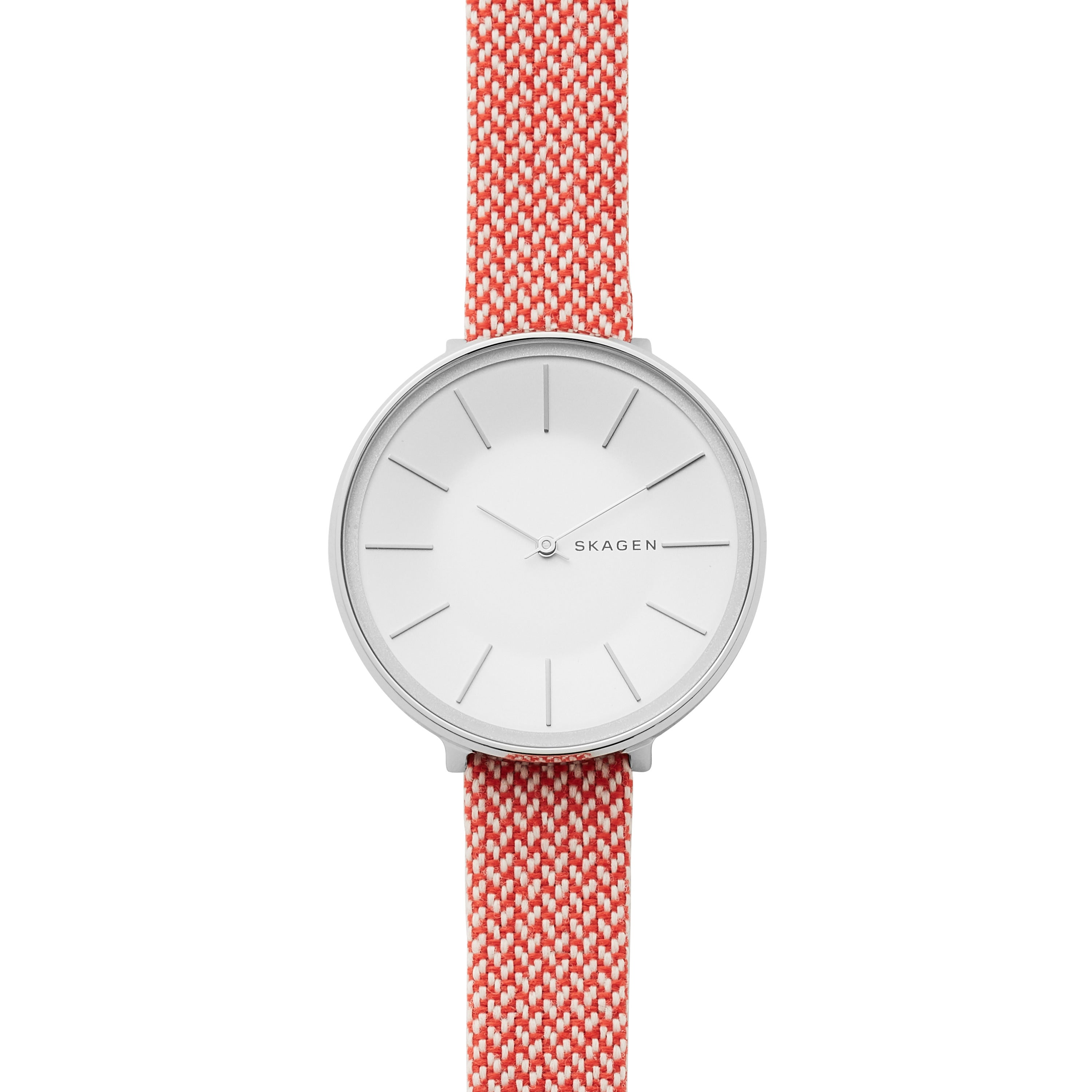 Karolina Red Recycled Woven Watch