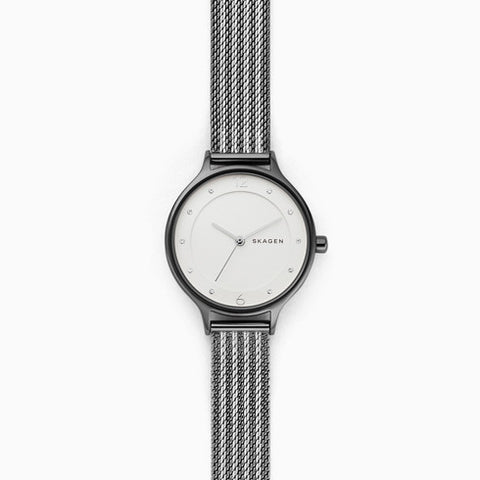 Anita Two Tone Ripple Mesh Watch