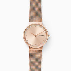 Annelie Rose Tone Steel Mesh Watch