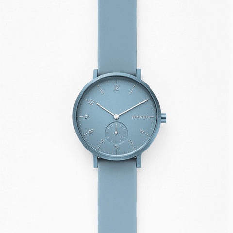 【NEW size】Aaren Kulor Light Blue Silicone 36MM Watch
