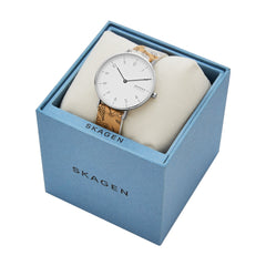 Aaren Two Tone Leather Watch